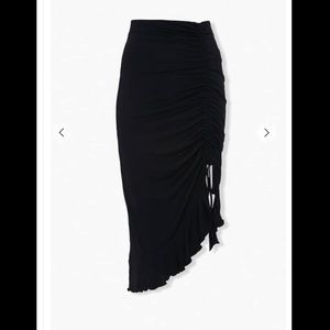 Ruched High-Low Skirt